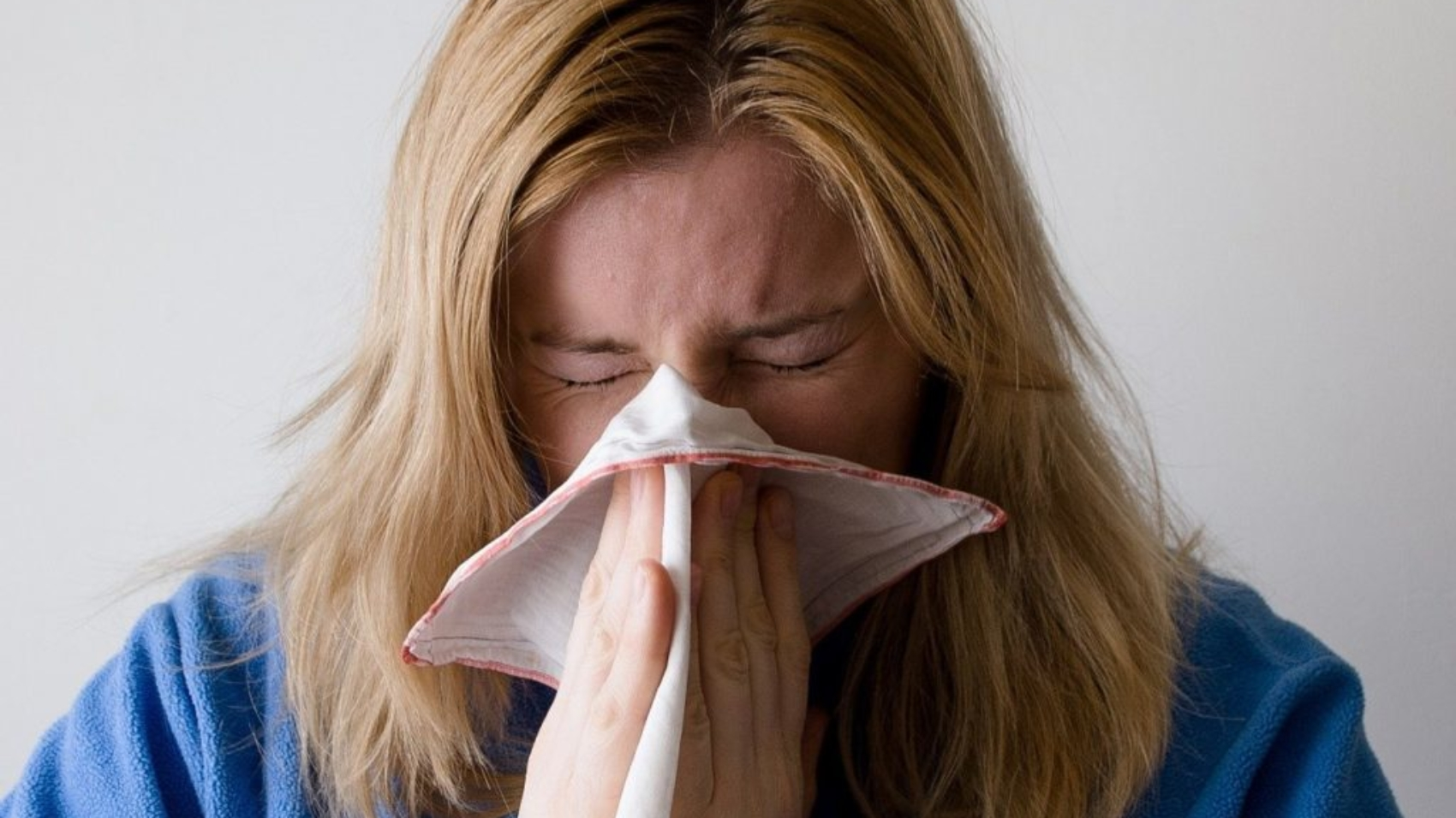 Woman during cold and flu season